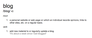 Blogging definition